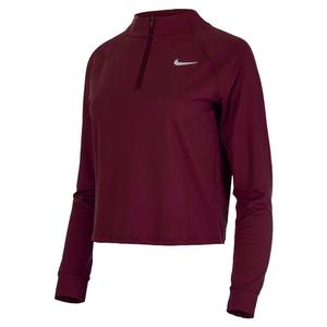 Women`s Court Dri-FIT Victory Long Sleeve 1/2-Zip Tennis Top