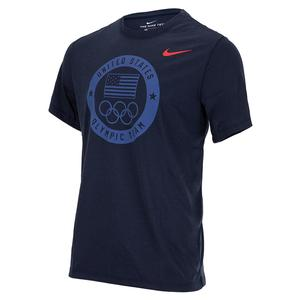 Men`s Dri-FIT Team USA Training T-Shirt Obsidian
