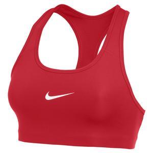 Women`s Swoosh Medium-Support Non-Padded Sports Bra University Red and White