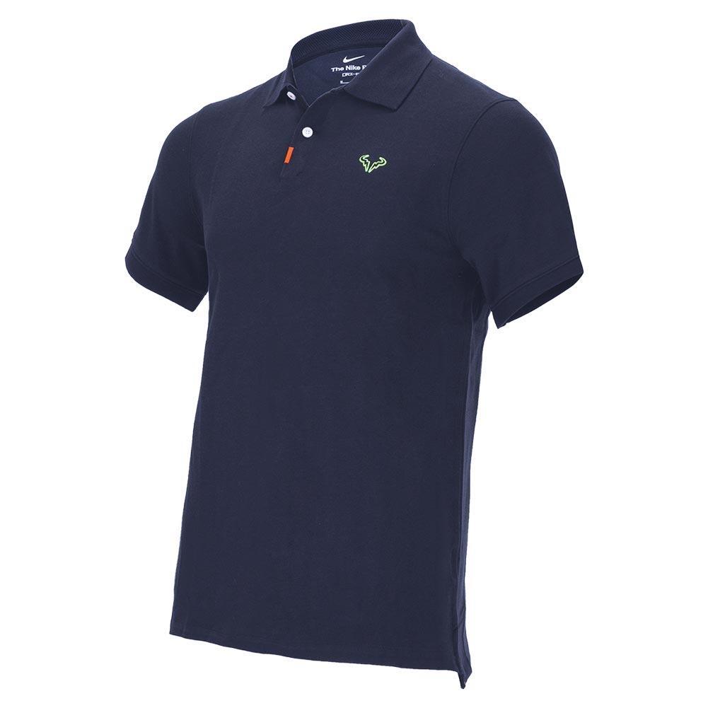 Men's Rafa Slim 2.0 Tennis Polo Obsidian And Lime Glow