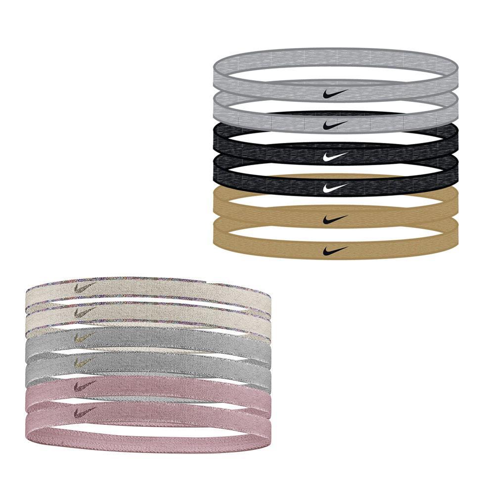 Women's Swoosh Sport Headbands 6 Pack Metallic