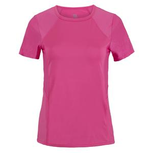 Women`s Lisandra Short Sleeve Tennis Top Sakura