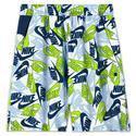 Boys` Sportswear Printed Woven Shorts 100_WHITE/LT_SMK_GY
