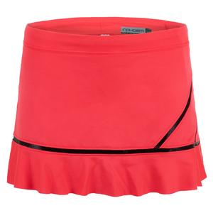 Women`s Angelika Tennis Skort Vibrant Red and Black