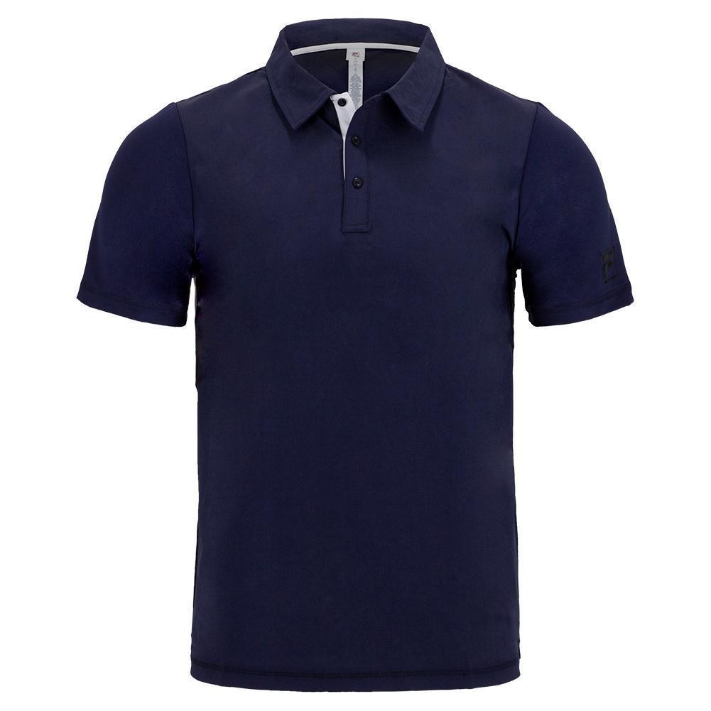 Men's Tie Breaker Short Sleeve Tennis Polo