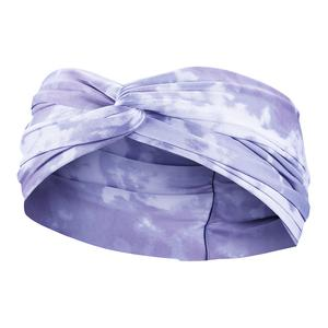Women`s Printed Twist Knot Headband Light Thistle