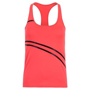 Women`s Angelika Tennis Tank Vibrant Red and Black