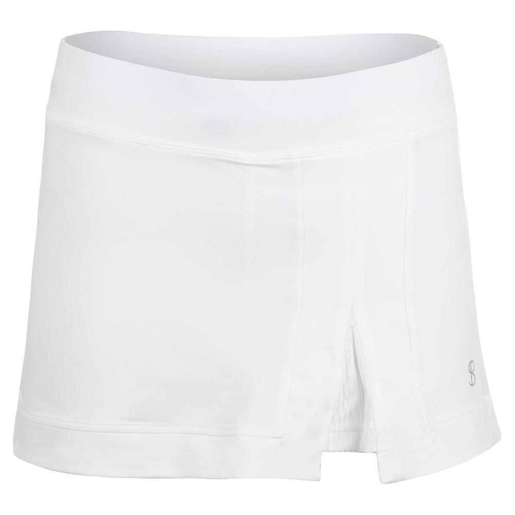 Women's 13 Inch Tennis Skort White And Blanc