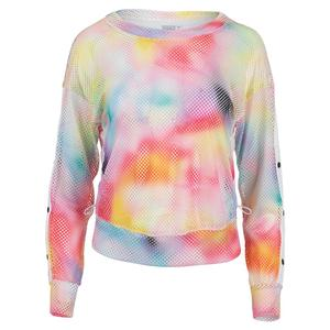 Women`s Net Long Sleeve Tennis Pullover Techno Ombre