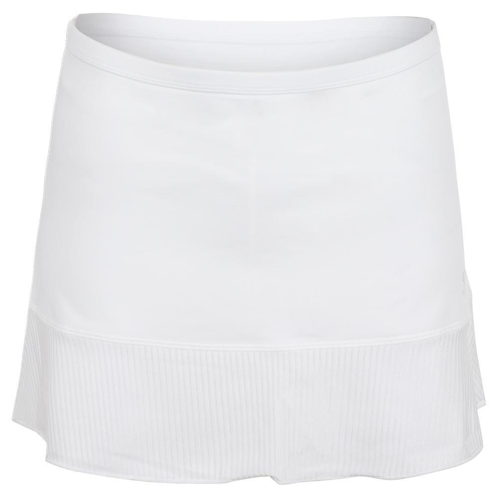 Women's 14 Inch Tennis Skort White And Blanc