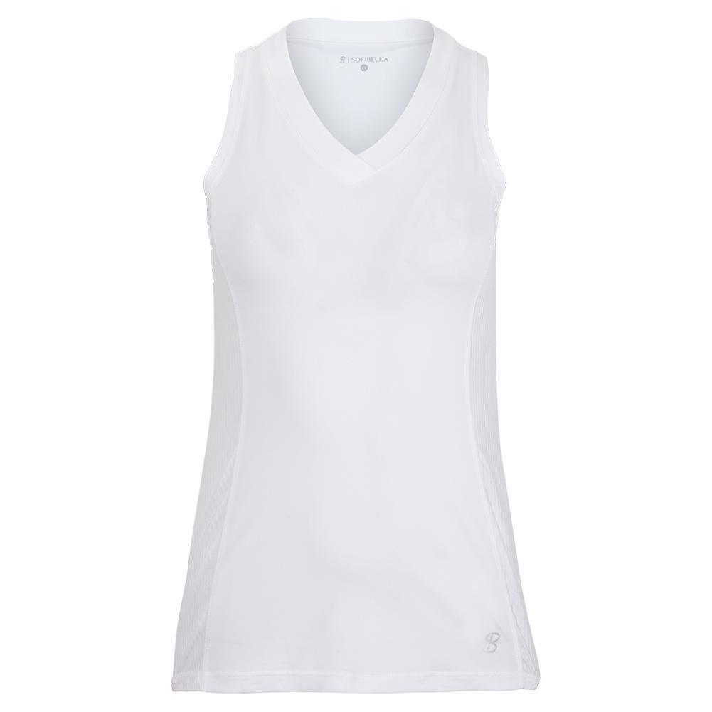 Women's Full Back Tennis Tank White And Blanc
