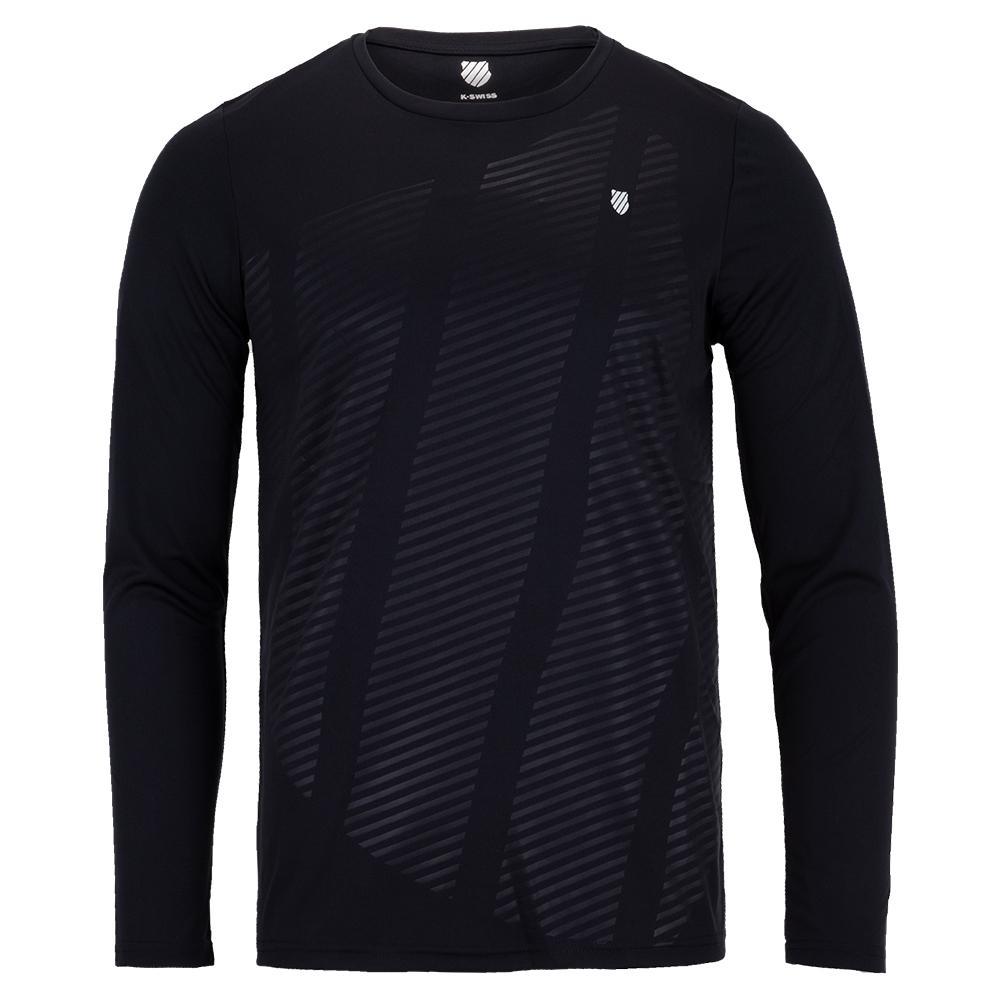Men's Hypercourt Long Sleeve Tennis Top Blue Graphite