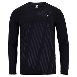 Men`s Hypercourt Long Sleeve Tennis Top Blue Graphite