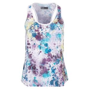 Women`s Baseline Tennis Tank Splatter and White