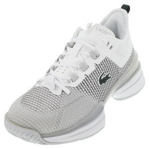 Men`s AG-LT 21 Ultra Tennis Shoes White and Light Grey