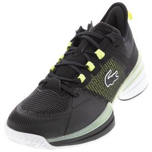 Men`s AG-LT 21 Ultra Tennis Shoes Black and Light Yellow