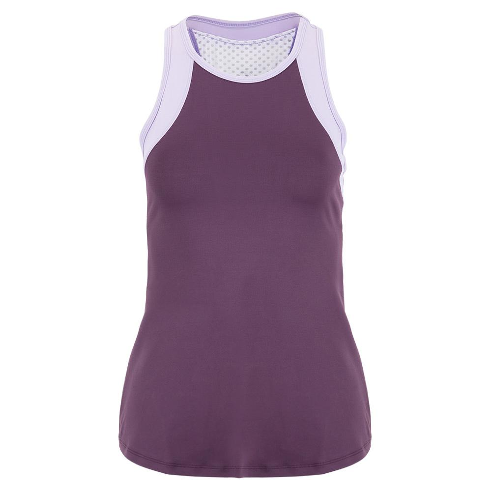 Women's Echo Tennis Tank Currant And Bluebell