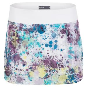 Women`s Tashi Tennis Skort Splatter and White