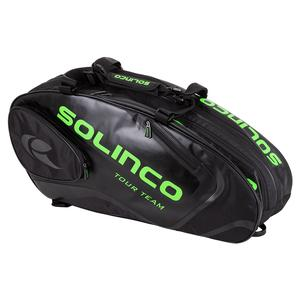 6-Pack Tour Team Tennis Racquet Bag Black and Neon Green