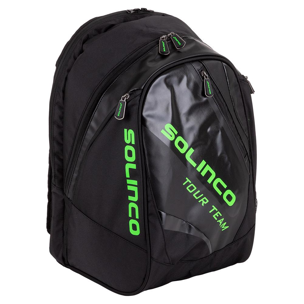 Tour Team Tennis Backpack Black And Neon Green