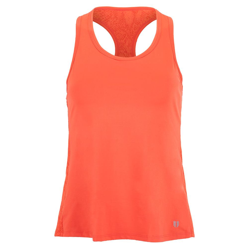 Women's Race Day Tennis Tank Sunny Coral Snake