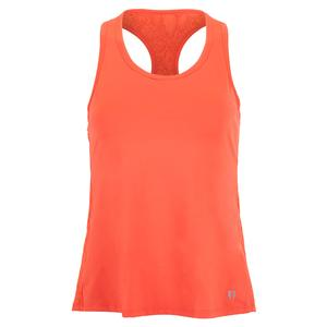 Women`s Race Day Tennis Tank Sunny Coral Snake
