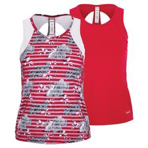 Women`s Cherry Blossom Racerback Tennis Tank