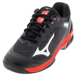 Men`s Wave Exceed SL 2 AC Tennis Shoes Black and White