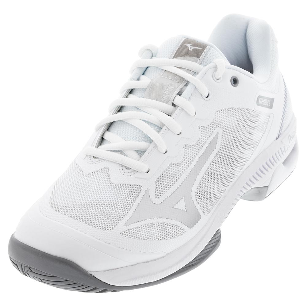 Women's Wave Exceed Sl 2 Ac Tennis Shoes White And Silver
