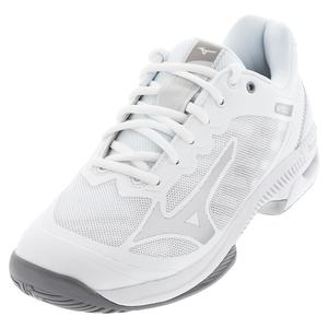 Women`s Wave Exceed SL 2 AC Tennis Shoes White and Silver