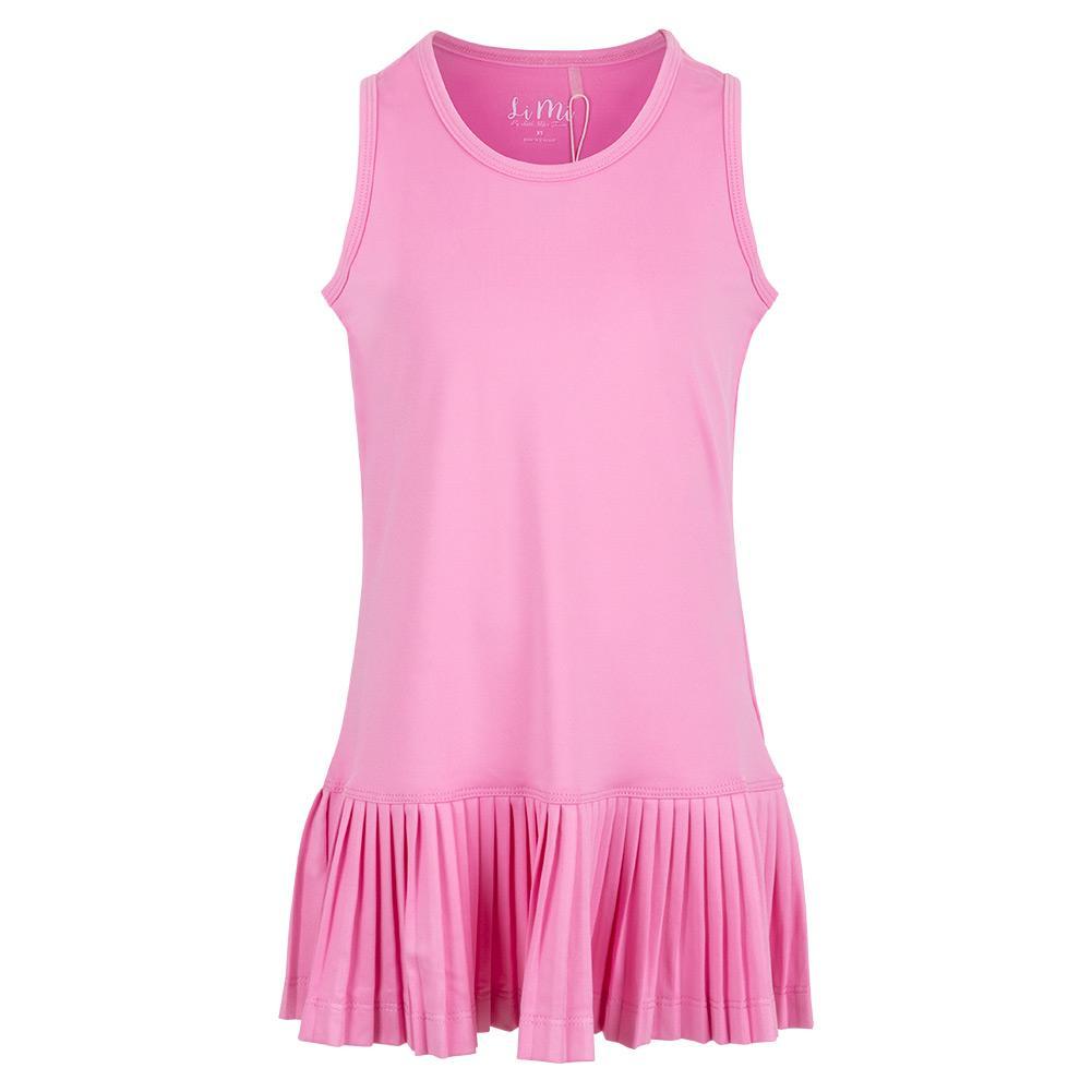 Girls ` Mini Pleat Tennis Dress Pink