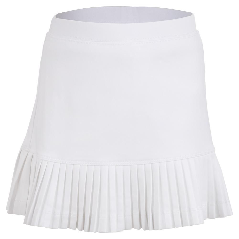 Girls ` Mini Pleat Tennis Skort White