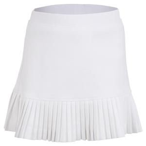 Girls` Mini Pleat Tennis Skort White