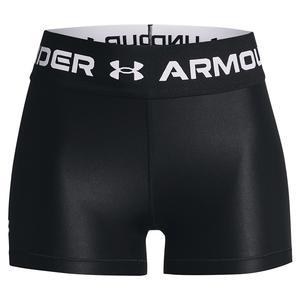 Women`s HeatGear Armour Wordmark Waistband Shorty Black and White