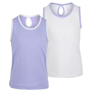 Girls` Keyhole Back Tennis Tank Top