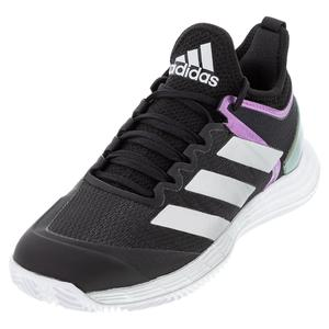 Women`s adizero Ubersonic 4 Tennis Shoes Core Black and Silver Metallic