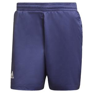 Men`s Primeblue Ergo 7 Inch Tennis Short Semi Night Flash and Black