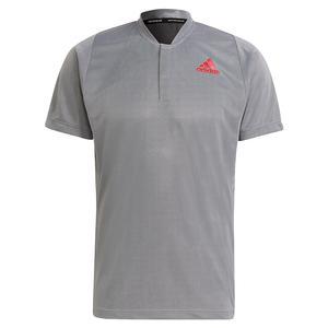 Men`s Primeblue FreeLift Tennis Polo White and Black