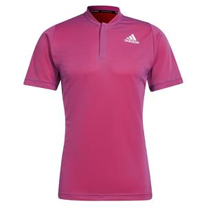 Men`s Primeblue FreeLift Tennis Polo Semi Night Flash and Scarlet
