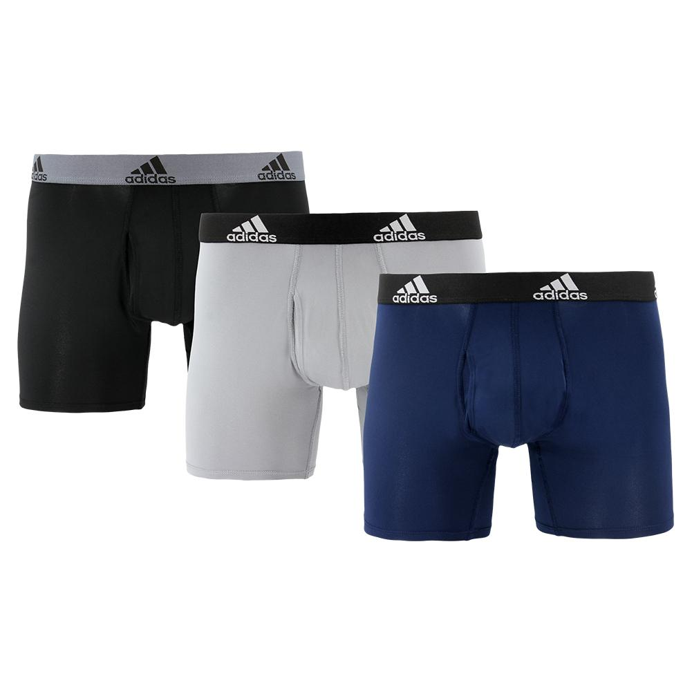 Men's Performance Boxer Briefs 3 Pack Black And Grey