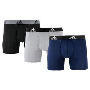 Men`s Performance Boxer Briefs 3 Pack Black and Grey