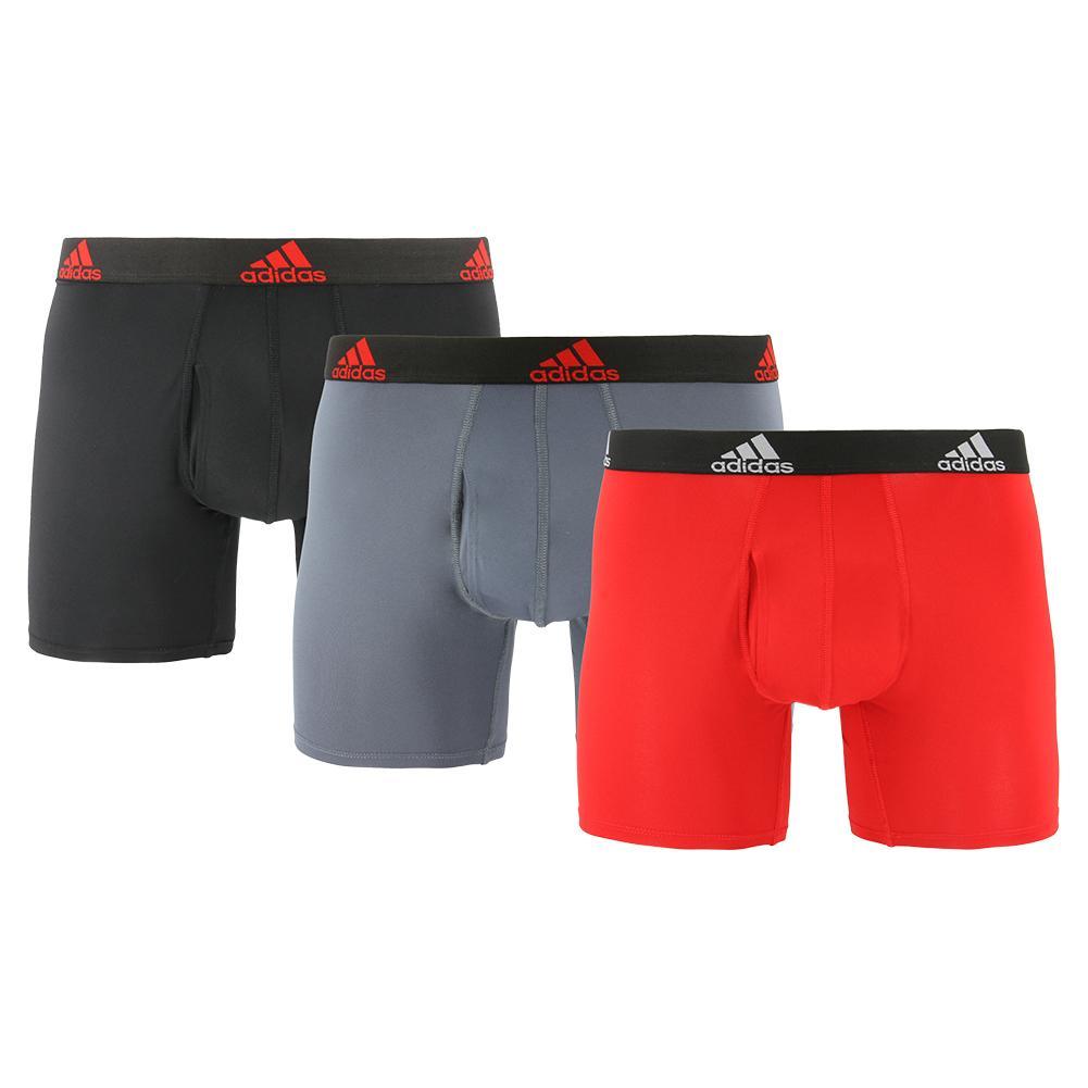 Men's Performance Boxer Briefs 3 Pack Scarlet And Black