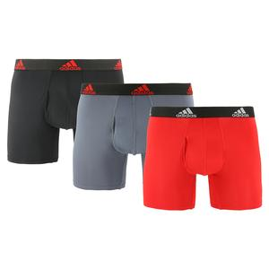 Men`s Performance Boxer Briefs 3 Pack Scarlet and Black