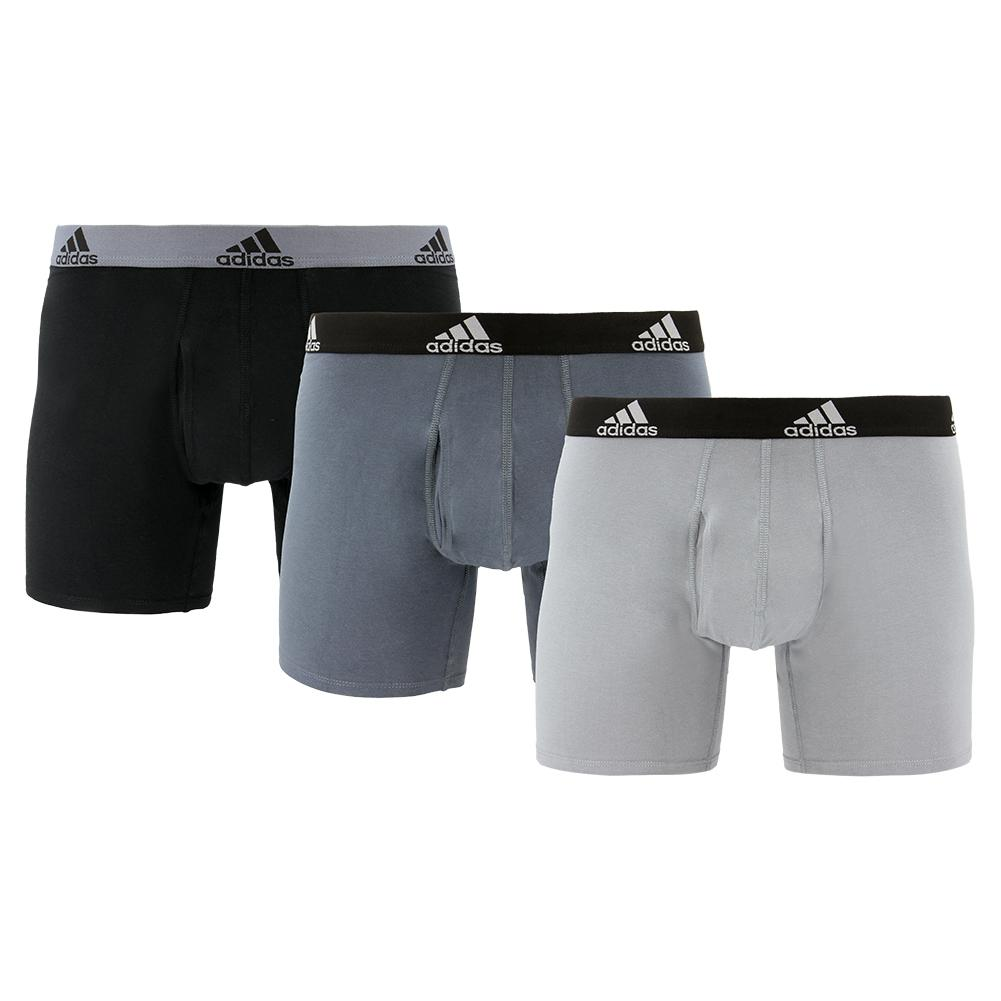 Men's Stretch Cotton Boxer Briefs 3 Pack Onix And Black