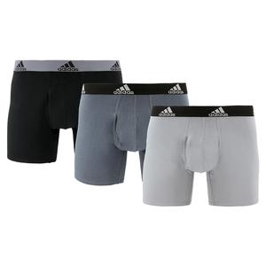 Men`s Stretch Cotton Boxer Briefs 3 Pack Onix and Black