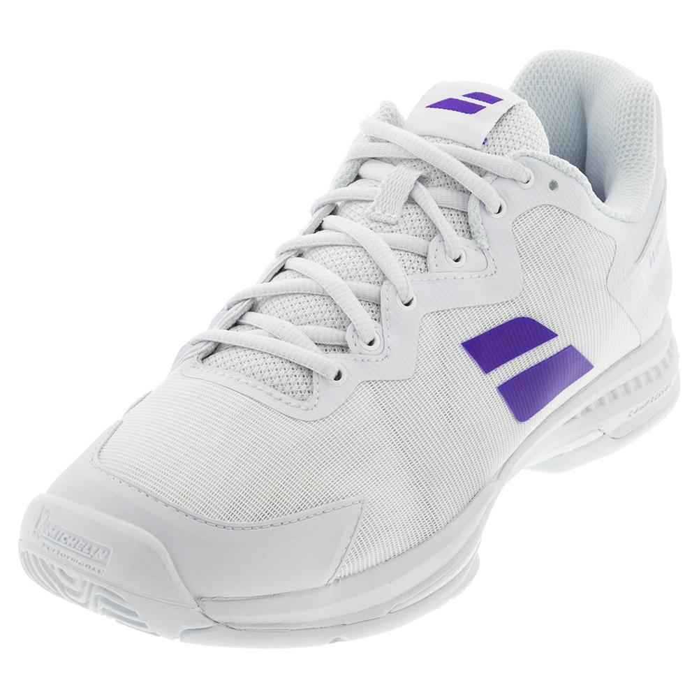 Men's Wimbledon Sfx 3 All Court Tennis Shoes White And Purple