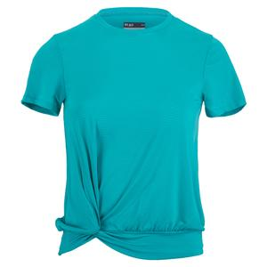 Women`s Knot Tennis Top Capri Blue
