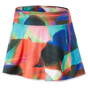 Women`s Printed Rally Court 13 Inch Tennis Skort Black Multi