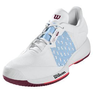 Women`s Kaos Swift Tennis Shoes White and Chambray Blue