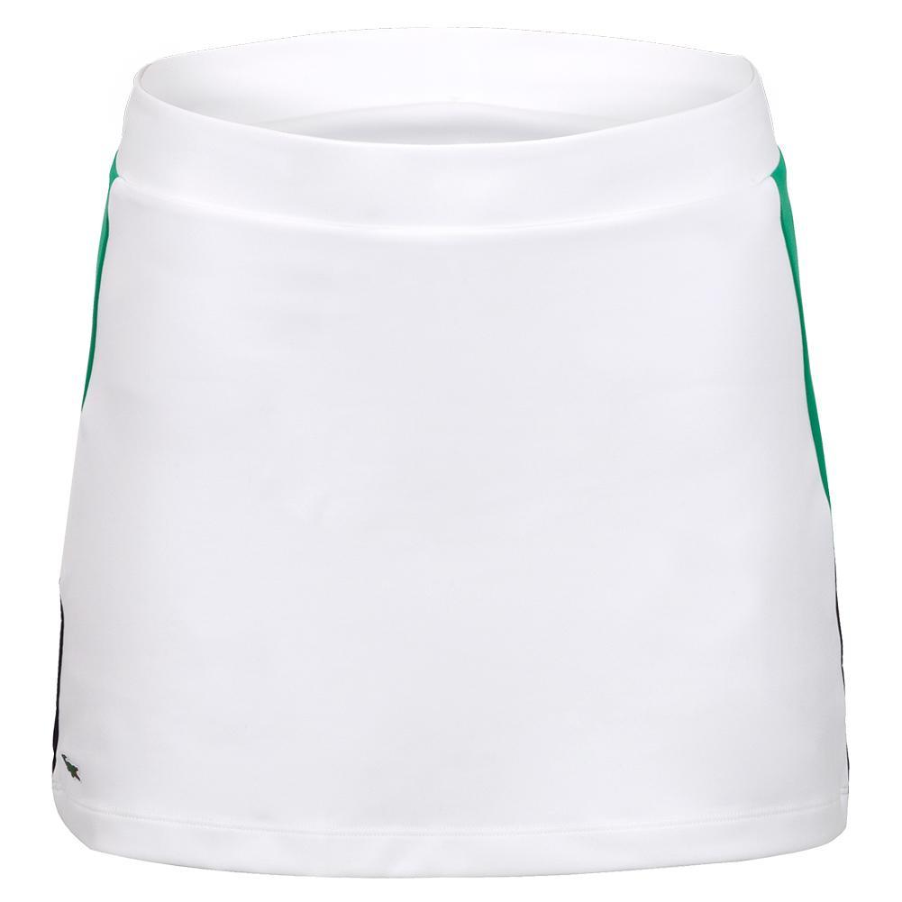 Women's Jupe Tennis Skirt White And Palm Green
